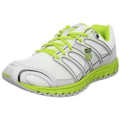 K-Swiss Women`s Micro Tubes 100 Fit W Running Shoe,White/Gull Grey/Bright Green