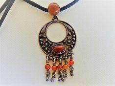 Ethnic Silver Pendant Boho Pendant Vintage Jewelry Handmade