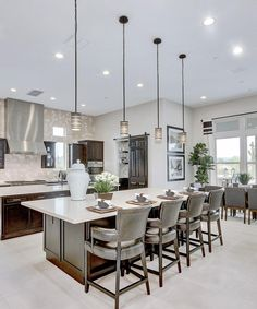With #gourmet quality #kitchens and more, Copper Sky has a #floorplan perfect for your #lifestyle. #seating #modern #food #family #Scottsdale