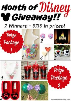 Month of Disney GIVEAWAY ($218 in prizes!)
