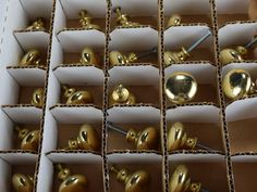 Salvaged Brass Knobs Cabinet Drawer Hardware