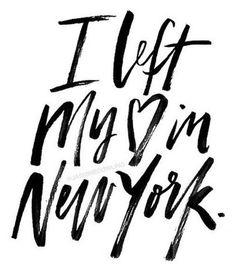 I left my heart in new York