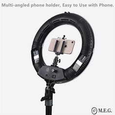 """Are you active on social media? Or want to take professional quality photographs within the comfort of your own home? Then this LED Light Stand will be perfect for you! Features: Dimmable 12"""" LED Ring Light Lightweight and portable - take it wherever you go! Safe for the entire family, including pets. NO UV radiation Led Ring Light, Own Home, Blogging, Photographs, Gadgets, Social Media, Gift Ideas, Tools, Lighting"""