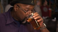 Note book not yet in print about history of beer.  Michael Ferguson, of the BJ's Restaurants group, is one of only a small handful of African-Americans who make beer for a living.