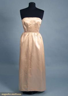 Augusta Auctions, April 2009 Vintage Fashion and Textile Auction, Lot 348: Balenciaga Silk Couture Ballgown, 1960s