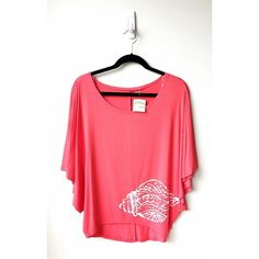 Maui Thing Oversized High-Low Top (Red-Orange) Super soft jersey material, featuring a shell detail. Hits at the hips in the front and a little lower in the back. Labeled as a size small but could fit a Medium as well. Perfect for the upcoming summer months. The Maui Thing brand is exclusive to Hawaii. No trades or PP please. Offers are welcome using the offer button feature  Maui Thing Tops