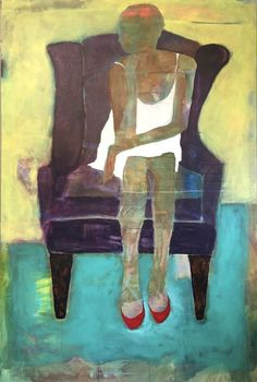 Daily Painters Abstract Gallery: Female Figurative Art,Interior View Painting…