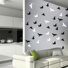 Birds Stickers birds decals for walls and by TrendyWallDesigns