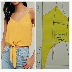 Dress Sewing Patterns, Blouse Patterns, Clothing Patterns, Blouse Designs, Pattern Sewing, Fashion Sewing, Diy Fashion, Moda Fashion, Costura Fashion