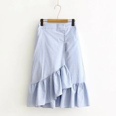 Cheap asymmetrical skirt, Buy Quality skirts womens directly from China skirt styles Suppliers: Spring Summer Casual Japan Style Striped Asymmetrical Skirts Women Elastic Waist Cotton Linen Kawaii Female Vestido Skirts U196