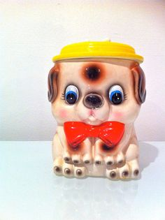 Vintage Doggy Treat Cookie Jar by Brulumama on Etsy, $24.00