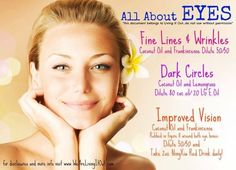 Young Living Essential Oils: Eyes, Dark Circles, Vision, Wrinkles. For more info… #DarkCirclesRemedyDIY