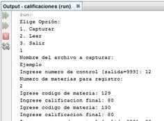 en esta imagen se muestra la el codigo de calificaciones para pedir las calificaciones con una clave para posteriormente crear un archivo y ser leido