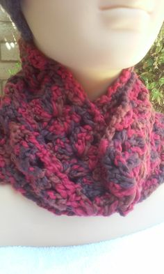 Thick Chunky Soft Scarf / Red and Brown Scarf / by GrammaLeas