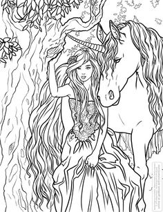 Selina Fenech * Unicorn Fantasy Myth Mythical Mystical Legend Licorne Enchantment Coloring pages colouring adult detailed advanced printable Kleuren voor volwassenen coloriage pour adulte anti-stress kleurplaat voor volwassenen Line Art Black and White Einhorn unicorno unicornio Единорог jednorožec Eenhoorn yksisarvinen jednorożca unicórnio Egyszarvú Kirin
