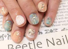 Nail Art - Beetle Nail :  マーメイドネイル   #Beetlenail #Beetle近江八幡 #ビートルネイル #ビートル近江八幡