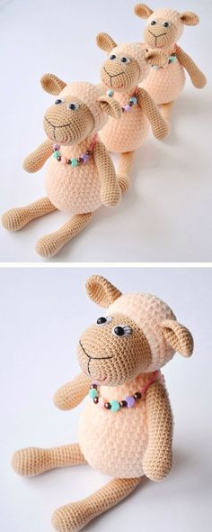 If you're looking for an easy amigurumi sheep, this one is perfect! Super easy a… If you're looking for an easy amigurumi sheep, this one is perfect! Super easy and totally adorable! Crochet Sheep, Crochet Amigurumi, Cute Crochet, Amigurumi Doll, Amigurumi Patterns, Crochet Crafts, Crochet Dolls, Yarn Crafts, Doll Patterns