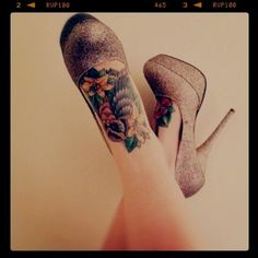 Pretty tattoos and pretty shoes
