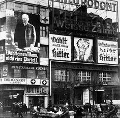 卐 Wahlplakate in Berlin (1932) Election posters in Berlin   |  ⍢ final solution    https://de.pinterest.com/ulrikebliefert/historical-berlin/