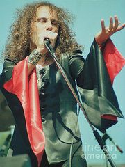 Day On The Green Art - Ronnie James Dio of Black Sabbath during 1980 Heaven and Hell Tour-2nd New Photo by Daniel Larsen