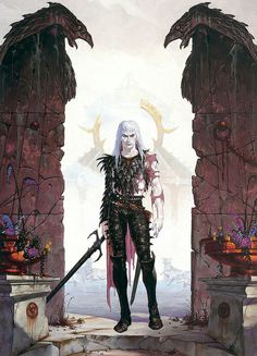 Brom - White Wolf [Elric] by myriac, via Flickr | Rather too well built, perhaps…