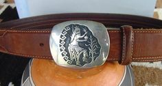 Hopi Belt Buckle Sterling from atwinkleintime on Ruby Lane