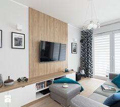 MIESZKANIE 72m2 - Średni salon, styl minimalistyczny - zdjęcie od KRAMKOWSKA | PRACOWNIA WNĘTRZ