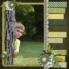 Scrapbook Layout ~ 1 Photo good use of paper scraps Kids Scrapbook, Scrapbook Designs, Scrapbook Sketches, Scrapbook Page Layouts, Scrapbook Paper Crafts, Scrapbook Cards, Scrapbooking Ideas, Scrapbook Photos, Grandes Photos
