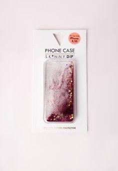 Skinny Dip iPhone 5 Glitter Phone Case Pink