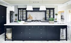 Awesome Charcoal Grey Kitchen Cabinets Dark Gray Kitchens Atticmag Charcoal Kitchen Cabinets Design Ideas for Your Home Decorating and Home Remodeling of The Years Dark Grey Kitchen Cabinets, Grey Kitchens, Home Kitchens, Gray Cabinets, Cupboards, Kitchen Paint, New Kitchen, Kitchen Ideas, Kitchen Colors