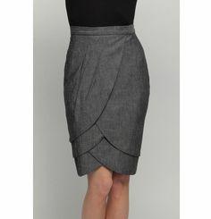 Love this feminine grey petal-skirt- Eva Franco