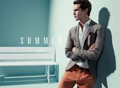 Massimo Dutti's summer 2012: colored pant for Mathias Lauridsen.