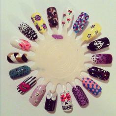 mix n match nail art wheel