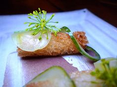 Fish Sticks, Smelt, Dill Pickles, Black Olive Mayo at ink by Michael Voltaggio