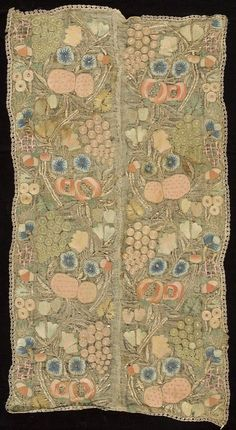 Embroidery  Textile  Turkish  ,  17th century  Harvard Art Museums/Arthur M. Sackler Museum, Gift of John Goelet  , 1958.45