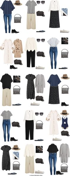 What to Wear for one month in Europe Packing Light List Outfit Options 16-30 #packinglist #packinglight #travellight #travel #livelovesara