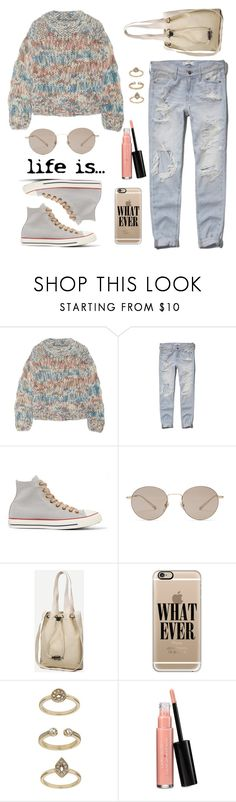 """About a girl / Inspired by grunge style"" by nicolesynth ❤ liked on Polyvore featuring Chloé, Abercrombie & Fitch, Converse, Gucci, Casetify, Topshop and Laura Geller"