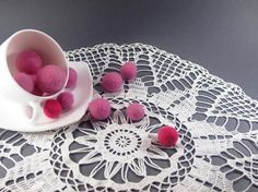 Crochet Large Doily Handmade Cotton Lace by FluffyFuzzypatterns