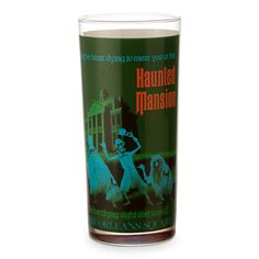 Disney Parks Attraction Poster Tall Glass Tumbler - Haunted Mansion/Pirates of the Caribbean $12.95