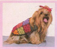 Vintage Crochet Dog Sweater Patterns  Two by tawnydog