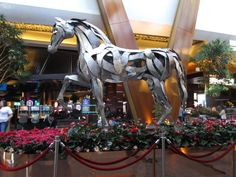 """One of the decorations at the ARIA for 2014 """"Chinese New Year""""."""