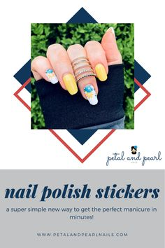 Nail Polish Stickers, Nail Polish Strips, Diy Manicure, Pedicure, Fall Nail Trends, Pearl Nails, Floral Nail Art, Stylish Nails, Color Street