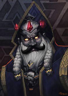 Emperor Dagran Thaurissan by pulyx Fantasy Dwarf, Fantasy Rpg, Fantasy Artwork, Dungeons And Dragons Characters, D D Characters, Fantasy Characters, Character Concept, Character Art, Concept Art
