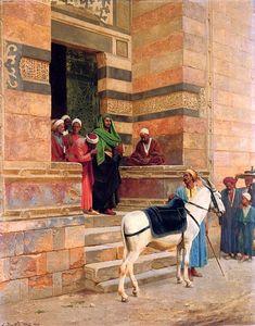 Leaving the Masjid after prayers, 1900 ---- artist Ludwig Deutsch Old Egypt, Egypt Art, Cairo Egypt, Capital Of Paris, Jean Leon, Empire Ottoman, Arabian Art, Academic Art, Pics Art