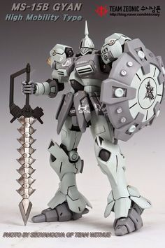 "Custom Build: MG 1/100 Gyan ""High Mobility Type"" - Gundam Kits Collection News and Reviews"