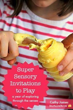 super sensory invitations to play :: sensory play activities for preschool :: multi-sensory learning :: learn through play ideas