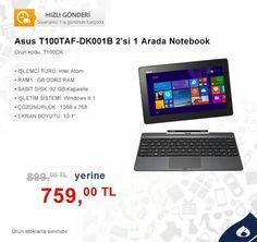 Asus T100TAF-DK001B 2'si bir arada notebook www.mallbudur.com #alisveris #internetalisverisi