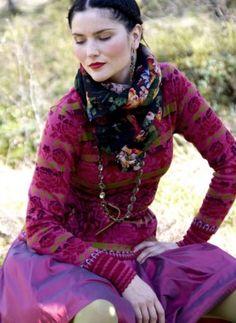 Love this. Oleana Knits plus Slavic scarf.