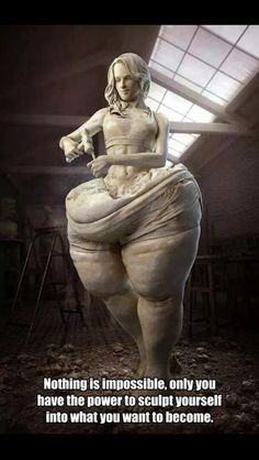 Nothing is impossible, only you have the power to sculpt your into what you want to become.