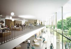 Gallery of C. Møller Selected to Design Vocational School in Denmark – 2 Image 2 of 11 from gallery of C. Møller Selected to Design Vocational School in Denmark. Minimal Architecture, Sacred Architecture, Education Architecture, Architecture Visualization, School Architecture, Architecture Design, Contemporary Architecture, Hospital Architecture, Architecture Collage
